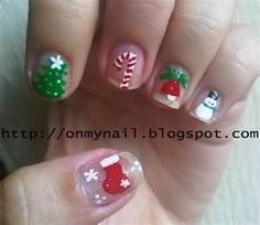 Nails, Nail Polish, Nail Art / Christmas Nails