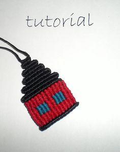 Macrame tutorial pendant small house by asmina on Etsy, $5.00