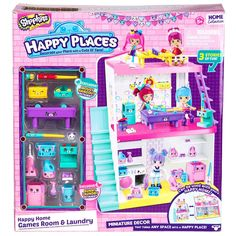 Shopkins Happy Places Happy Homes Games Room and Laundry | Toys & Hobbies, TV, Movie & Character Toys, Other TV/Movie Character Toys | eBay!