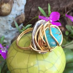 Wire Wrapped Washer Ring by MyGoodVibes on Etsy