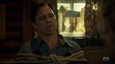"""Fargo 'Loplop' Season 2 , Episode 8   My god, watching Peggy stab Dodd. That was the hardest I've laughed in a long time. Dodd begging Ed for help, saying Peggy was crazy? Dear god. Dodd saying """"I'm really hurt over here"""" and Ed yelling """"shut up!"""" Oh god. This is the brilliance of the Coen Brothers and of Noah Hawley."""