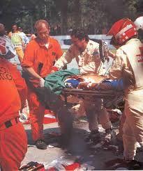 Image result for PICTURES AFTER AYRTON SENNAS FATAL CRASH