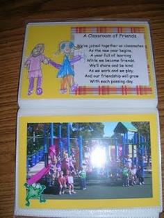 poem for kindergarten memory books Preschool Memory Book, School Memory Books, Preschool Ideas, Preschool Learning, Preschool Crafts, Teaching Ideas, Preschool Portfolio, Preschool Graduation, Pre K Graduation