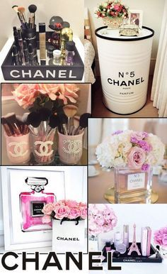 How to make Chanel-inspired decor – Coco chanel decor – chanel Chanel Party, Chanel Birthday Party, Chanel Room, Chanel Decor, Easy Home Decor, Diy Room Decor, Bedroom Decor, Paris Room Decor, Mason Jar Crafts