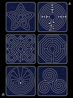 Finger labyrinth -I especially like the star pattern, maybe for Epiphany?