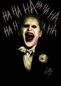 Jared Leto Joker by Richard Williams Der Joker, Joker Art, Joker And Harley Quinn, Joker Batman, Gotham Batman, Batman Art, Batman Robin, Gotham City, Joker 2016
