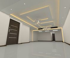 Living Room Ceiling Design Pleasing Overall View Of Modern Ceiling Design In Living Hall With Samsung Design Ideas