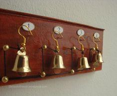 Dekorationen für Puppenstuben & -häuser Dolls House Miniature mahogany Set of Servants Bells Downton Abbey Victorian