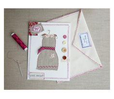 Carte ma petite robe en lin carte textile par EphemereCollection