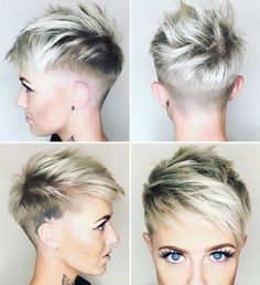 Freche Kurzhaarfrisuren Undercut Herren Fur Damen Haar Frisuren Peinados cortos traviesos Undercut Mens Fur Ladies Hair Hairstyles The post Peinados cortos traviesos Undercut Mens Fur Ladies Hair Hairstyles appeared first on Khanponap. Cute Short Haircuts, Short Hairstyles For Women, Hairstyles 2018, Hairstyle Short, Choppy Haircuts, Hairstyle Ideas, Pixie Hairstyles For Thick Hair Undercut, Bold Haircuts, Pixie Cut With Undercut