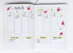 March layout idea for bullet journal. Bullet Journal Lettering Ideas, Bullet Journal Notes, Bullet Journal Hacks, Bullet Journal How To Start A, Bullet Journal Ideas Pages, Bullet Journal Spread, Bullet Journal Layout, Bullet Journal Inspiration, Journal Pages