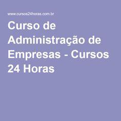 Curso de Administração de Empresas - Cursos 24 Horas