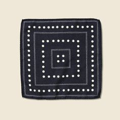 Dots Pocket Square - Navy