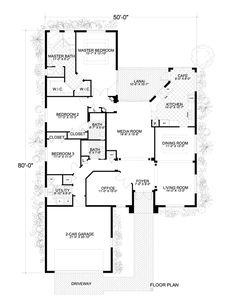 Florida House Plan 55875 Level One, 2394sf