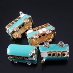 Oro al por mayor 15 unids/pack Esmalte Azul Encantos de la Aleación del Collar de los colgantes joyería que hace Resultados de La Joyería fina Mujeres Regalos 50963