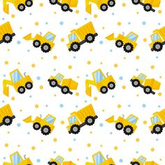 Tractor, Excavator, Bulldozer And Trucks Seamless Pattern Planets Wallpaper, Farm Logo, Patterned Sheets, Pencil Illustration, Paper Background, Pattern Art, Scrapbook Paper, Tractors, Printing On Fabric