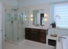 41 Awesome Small Full Bathroom Remodel 89 Making Space with A Contemporary Bath Remodel Carla aston 6 Master Bath Remodel, Diy Bathroom Remodel, Shower Remodel, Bathroom Renos, Bathroom Ideas, Bathroom Remodeling, Master Bathrooms, Bathroom Wall, Houzz Bathroom