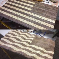 I am working on a military-style Old Glory Amber Waves of Grain for @soc_f. It will have a custom frame and it is going to be amazing!!
