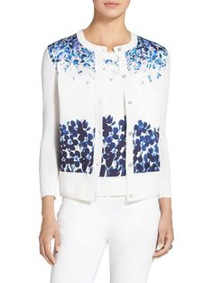 Add an element of femininity with this classic cardigan Classic Style, My Style, Floral Fashion, Femininity, Jasmine, Casual Outfits, Floral Prints, Funeral, Blouse