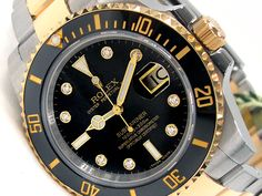 40mm Gents Rolex 18k Gold & Stainless Steel Oyster Perpetual Submariner Watch. Black Diamond Dial. Ceramic Black Bezel. 18k Gold & Stainless Steel Oyster Band. Style 116613.   Metal:  TWO-TONE  Order Item:  31544  Style:  SUBMARINER  Gender:  GENTS  Band:  TT OYSTER  Dial:  BLK 8R  Bezel:  CER BLK  Crystal:  SAPPHIRE  Movement:  AUTO  List Price:  $16,800  Our Price: call for price