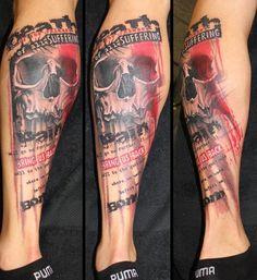 35 Trash Polka Tattoo Designs | http://www.berlinroots.com/trash-polka-tattoo-designs/