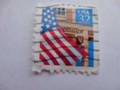 USA 32 Flag Postage Stamp