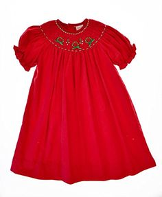 Carriage Boutique Baby Girl's Christmas Hand Smocked Bishop Dress 24 Months Red - http://www.fivedollarmarket.com/carriage-boutique-baby-girls-christmas-hand-smocked-bishop-dress-24-months-red/