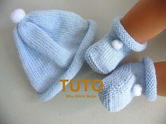 New knitting stitches sweaters scarfs ideas Baby Booties Knitting Pattern, Baby Boy Knitting Patterns, Baby Hats Knitting, Crochet Baby Booties, Easy Knitting, Knitting Stitches, Knitted Hats, Baby Pullover, Baby Cardigan