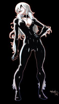 Black Cat - line art: Ray Height, color: Matthew Humphreys