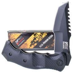 MTech MX-A805 A/O Tanto Pocket Knife Sawback  | MooseCreekGear.com | Outdoor Gear — Worldwide Delivery! | Pocket Knives - Fixed Blade Knives - Folding Knives - Survival Gear - Tactical Gear