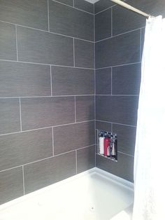 Bathroom Tiling Ideas For Small Bathrooms details: photo features castle rock 10 x 14 wall tile with glass