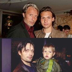 Mads Mikkelsen & his son (Love! This!)