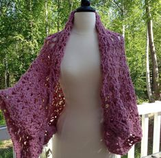 This crochet pattern is an instant download! ~ The Morning Glory Capelet ~    This versatile piece will work wonderfully with tanks, jeans...or that pretty dress you want to wear at the upcoming wedding! It flows seamlessly from spring to summer to fall...to winter. This capelet fits loosely...it brings to mind a kimono with its drapey sleeves. Snuggle up in it on those mornings when to take care of that slight chill. You will look beautiful in it!    The pattern does not have any difficult…