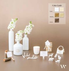 Maybe you aren't a big fan of punchy colors? If you are planning your wedding, then this palette is for you! The neutral hues evoke a calm and relaxing look that is understated yet so lovely and elegant. Looking for more color inspiration?
