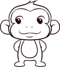 How To Draw A Simple Monkey, Step By Step, Forest Animals, Animals, FREE  Onlineu2026