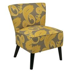 Bring chic style to your office or parlor with this elegant side chair, featuring a solid wood frame and paisley upholstery.   Prod...