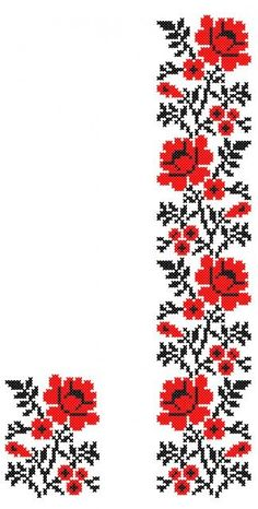 FL175 Embroidery Designs, Embroidery Patterns Free, Embroidery For Beginners, Embroidery Techniques, Cross Stitch Borders, Cross Stitch Designs, Cross Stitching, Cross Stitch Patterns, Mexican Embroidery