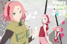 I know I am late but #happybirthday #Sakura from #Naruto
