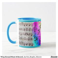 Wrap Around Music & Recorders Coffee Travel, Travel Mug, Coffee Music, Cool Mugs, Wrap Around, Tea Cups, Tableware, Design, Dinnerware