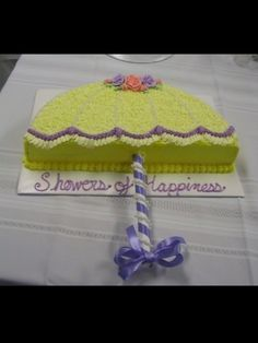 Umbrella Shower Cake