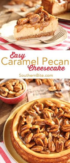 won't believe just how easy or how delicious this Caramel Pecan Cheesecake is!You won't believe just how easy or how delicious this Caramel Pecan Cheesecake is! Pecan Recipes, Easy Cake Recipes, Cooking Recipes, Aloo Recipes, Milk Recipes, Egg Recipes, Cheese Recipes, Copycat Recipes, Pasta Recipes