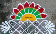 42 Ideas For Flowers Art Painting Artists Mobiles Easy Rangoli Designs Videos, Simple Rangoli Designs Images, Rangoli Designs Flower, Rangoli Border Designs, Rangoli Patterns, Rangoli Ideas, Rangoli Designs With Dots, Flower Rangoli, Rangoli With Dots