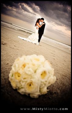 Florida beach wedding shot by Orlando wedding photographer Misty Miotto