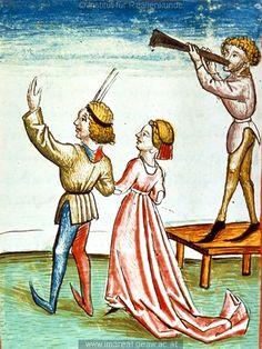 Tanz   Dieses Bild: 006764    1479 ; 1479 ; Wien ; Österreich ; Wien ; Österreichische Nationalbibliothek ; cod. 3049 ; fol. 166v