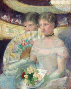 Mary Cassatt, *The Loge* 1878-1880 on ArtStack #mary-cassatt #art