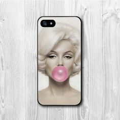 Marilyn Bubble Gum iPhone 5 Case, iPhone 5 hard, rubber cover, Marilyn Monroe cover skin case for iphone 5 cases