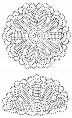 esquema de tejer chal