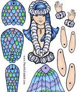 mermaid paper doll pattern