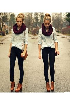 Totally chic. I put together a similar version of this outfit by shopping on ebay and H&M. Can't wait to wear it!