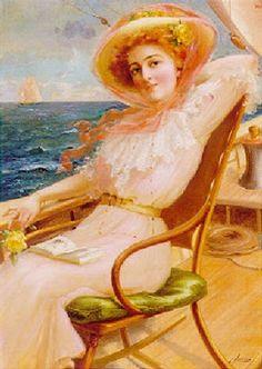 Èmile Vernon (1872-1919), Στο κατάστρωμα του πλοίου. Ιδιωτική Συλλογή.
